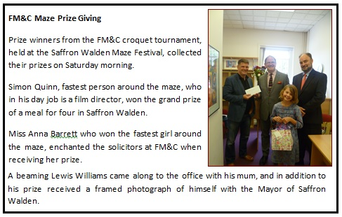 5 - FM&C Maze Prize Giving