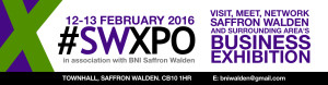 Banner for the Saffron Walden Business Exhibition 2016