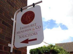Fairhurst Menuhin & Co Sign
